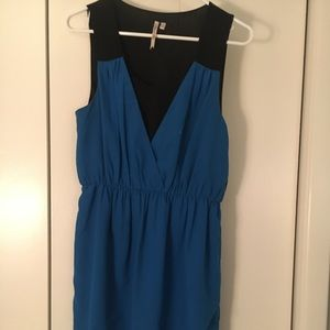 Bold blue/black dress